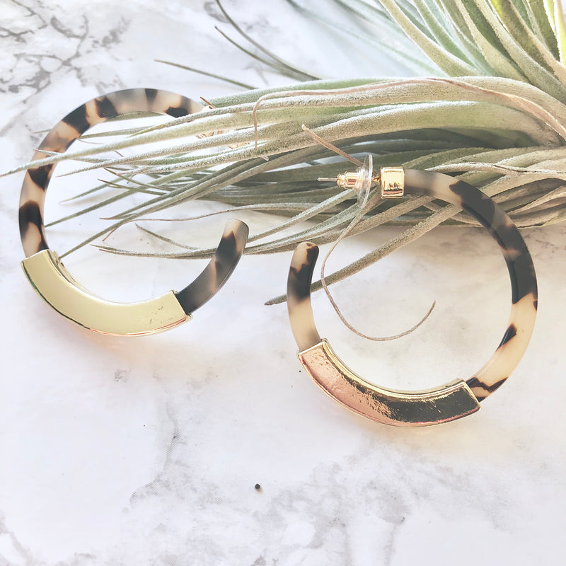 Classic Acrylic Hoop Earrings
