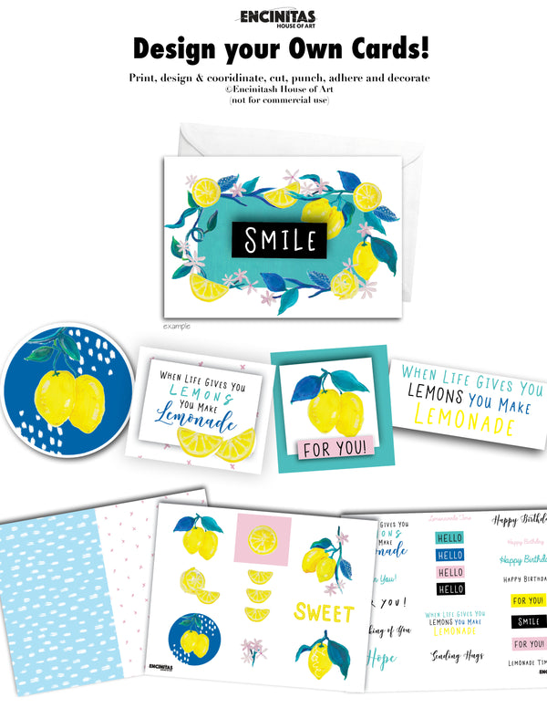 Card Making Kit - The Love Lemon Design Collection