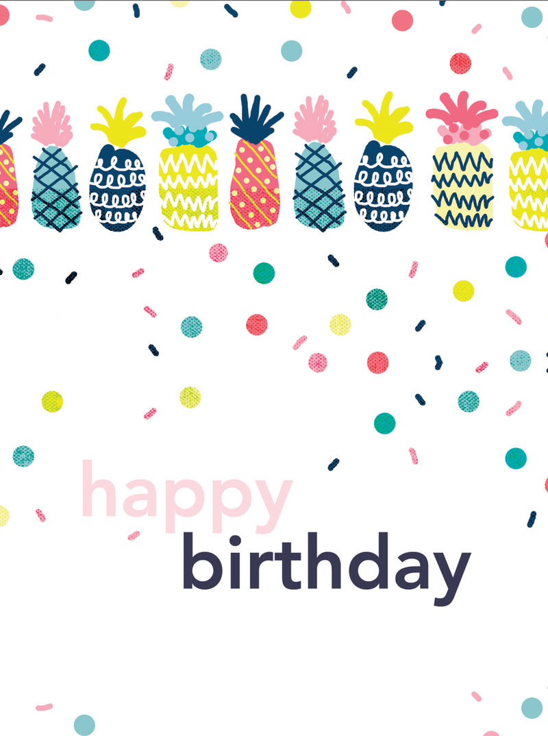 Pineapple Party Birthday Card