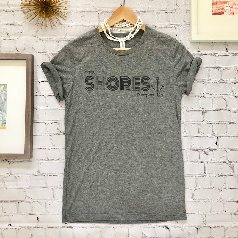 Newport Shores Short Sleeved T-Shirt Grey