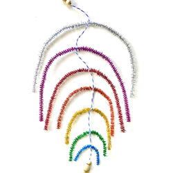 Curbside Creative Kit - Sparkly Rainbow Mobile