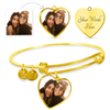 Best Friends - Luxury 18k Gold Finish Heart Bangle