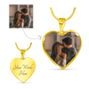 Anniversary - Luxury 18k Gold Finish Heart Necklace