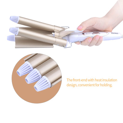 CurlQueen® - Triple Barrel Hair Curling Iron
