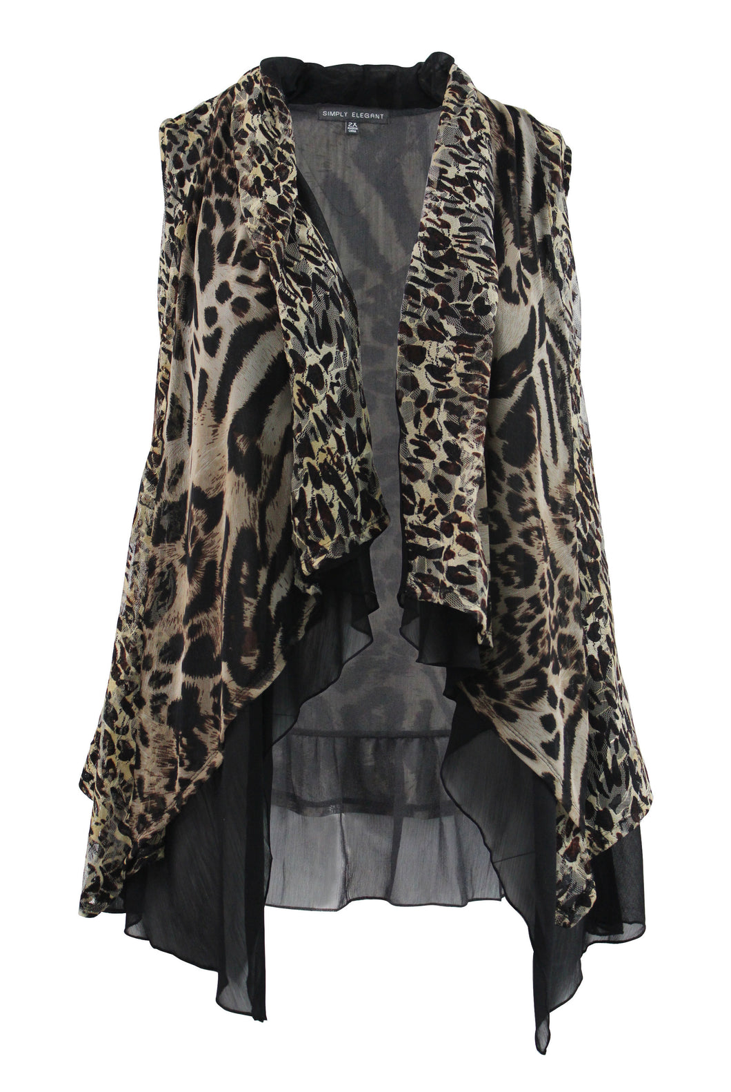 Leopard Sleeveless Cardigan
