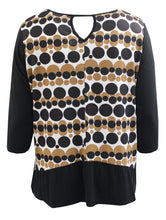 Polka Dot Blouse with Back Keyhole