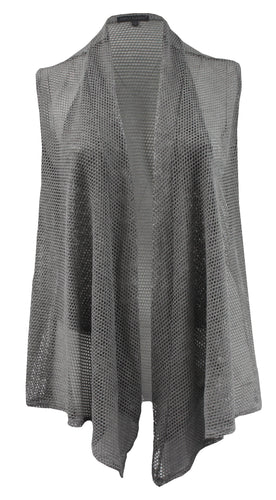 Netted Sleeveless Cardigan