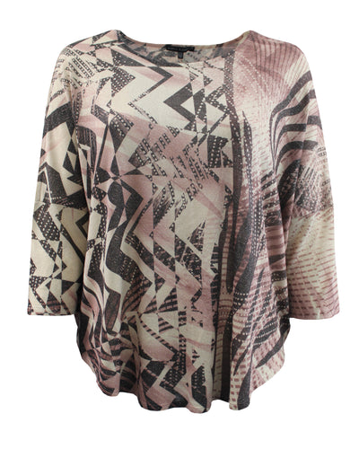 Pink Geometric Light Weight Blouse