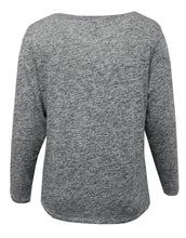 Heathered Long Sleeve with Foil Design