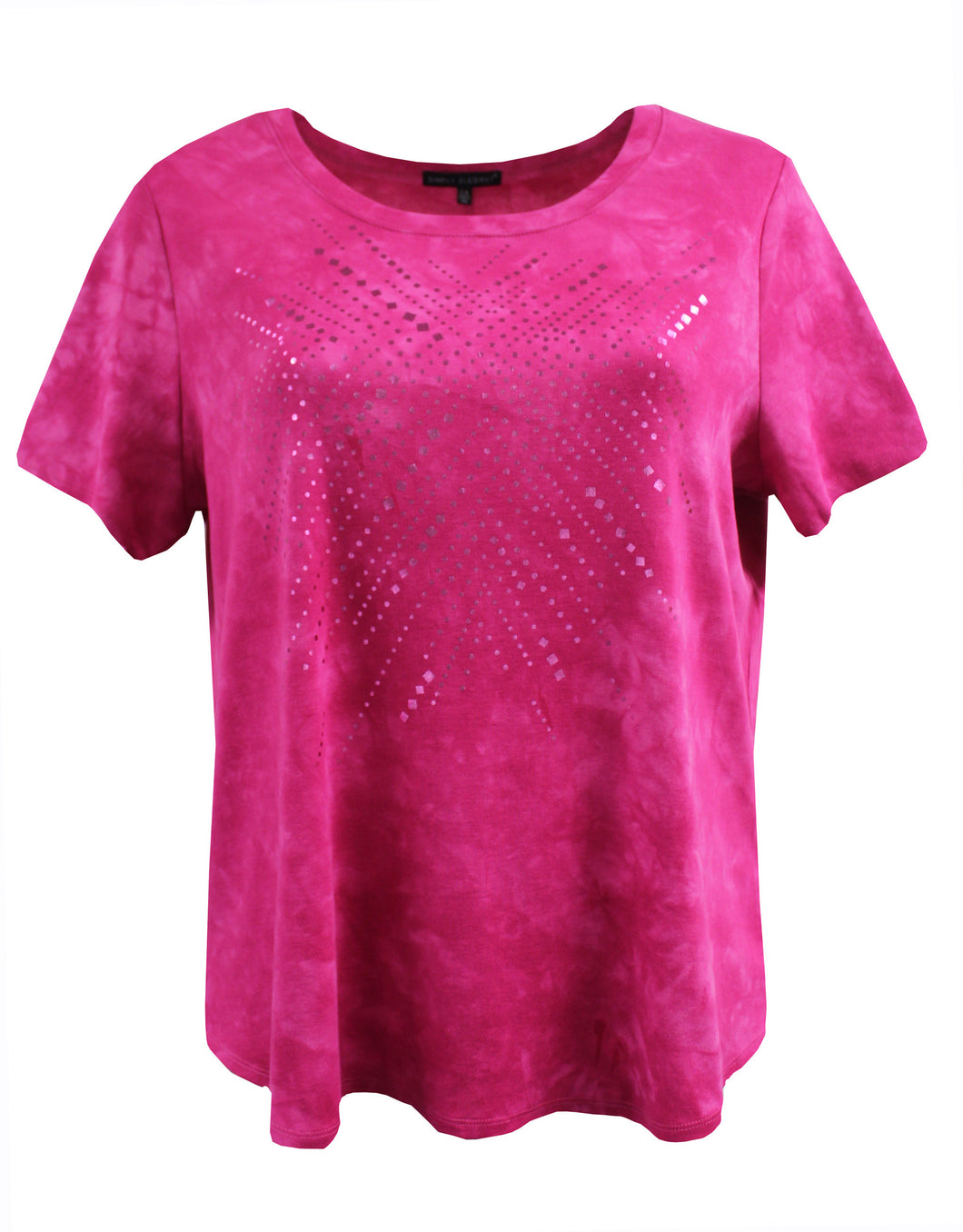 Tie-Dye Tee with Simple Metallic Foil Accent