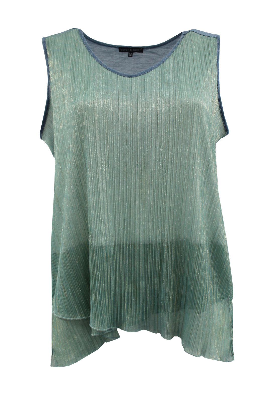 Shimmer Sea Foam Green Tank Top