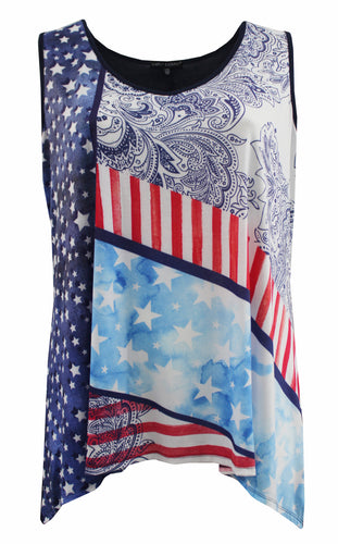 Red, White, and Blue Stars Tank