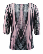 Black/Pink Abstract Blouse
