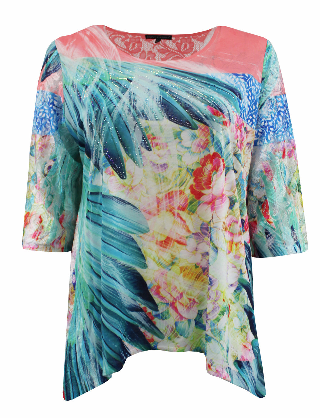 Tropical Floral Blouse
