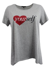Love YOURself Tee w/ Rhinestone Embellished Heart