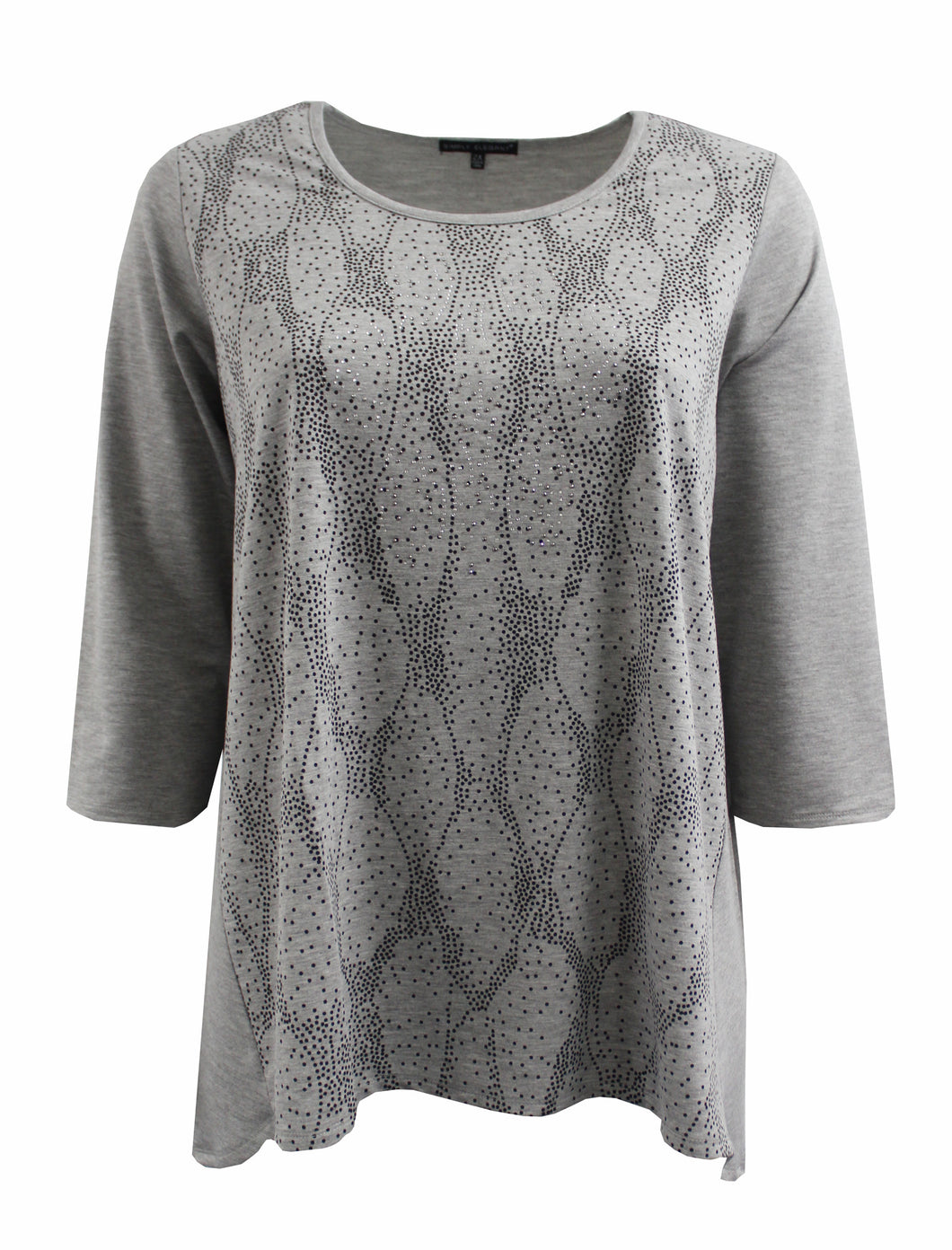 Grey Sweater-Like Round Neck Top