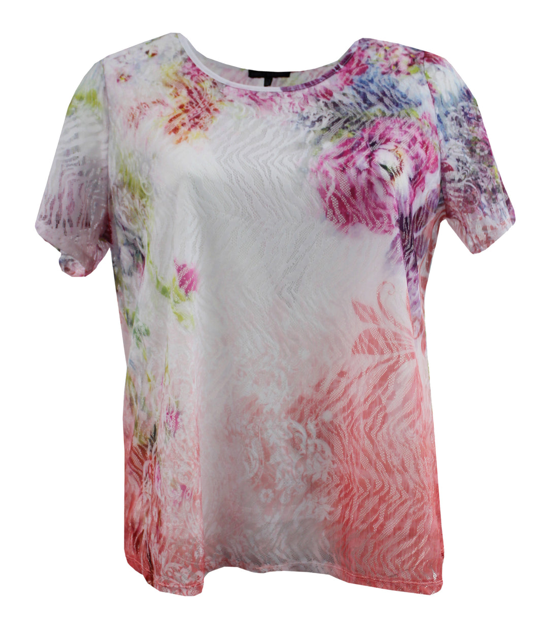 Floral Laced Tee Shirt