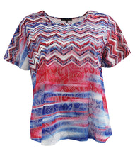 American Flag Abstract Lace Tee