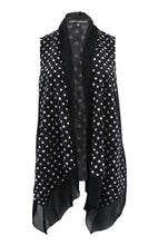 Polka Dot Lace Sleeveless Cardigan