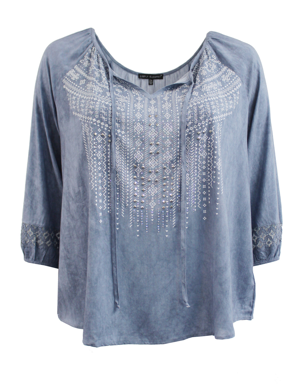 Tribal Print Boho Blouse