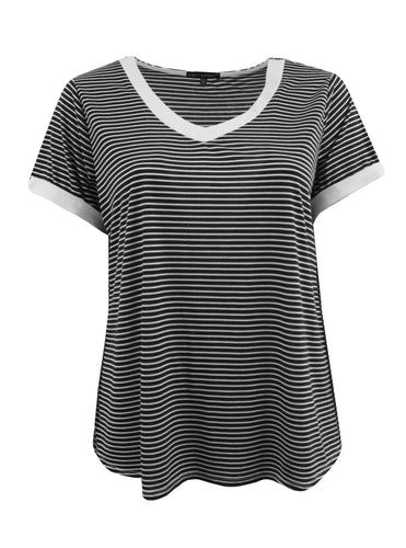 Striped V-Neck Tee