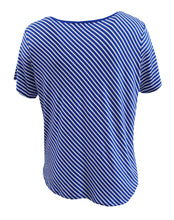Diagonal Striped Round Neck Tee