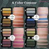 6 COLOR CONTOUR EYESHADOW-SATIN