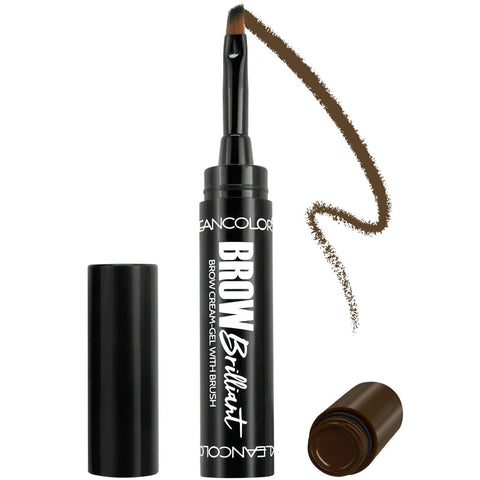 BROW BRILLIANT BROW CREAM-GEL WITH BRUSH - KleanColor