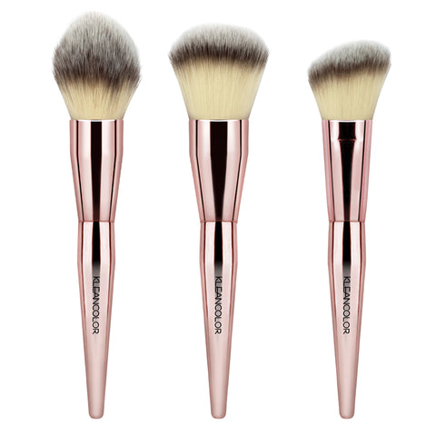 STOP & SMELL THE ROSES-3 PIECE FACE BRUSH SET - KleanColor