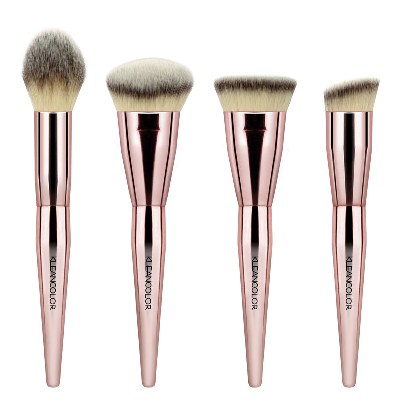 STOP & SMELL THE ROSES-4 PIECE CONTOUR BRUSH SET - KleanColor