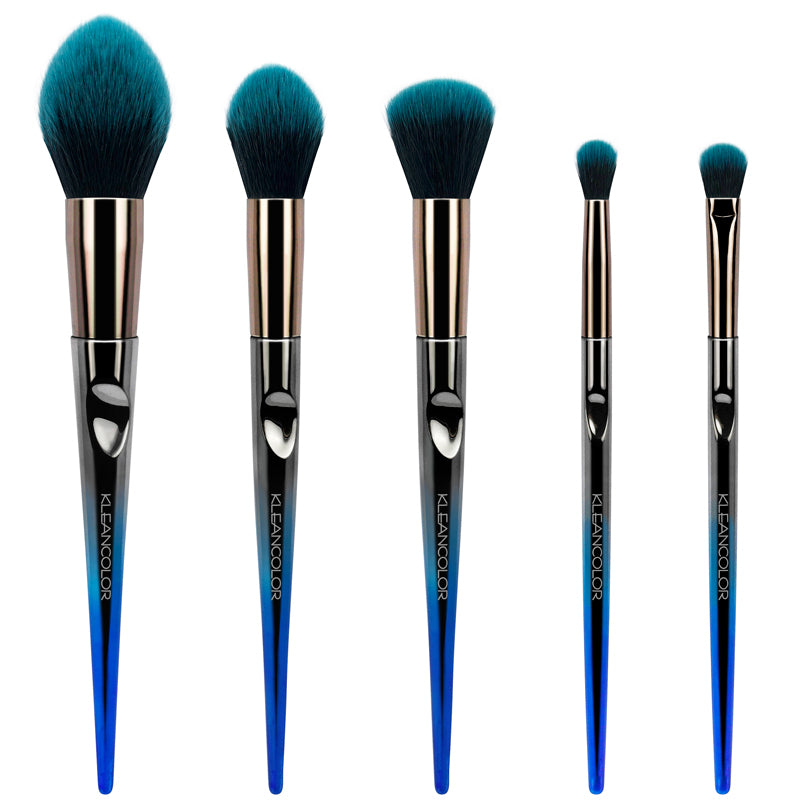 DAILY ESSENTIALS-5 PIECE FACE & EYE BRUSH SET - KleanColor