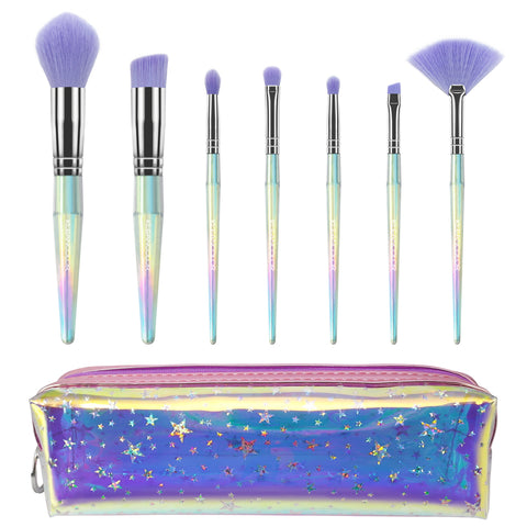 STAR LIFE-7 PIECE BRUSH SET W/ COSMETIC BAG