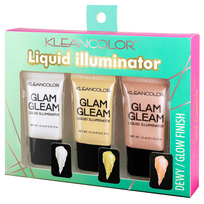 GLAM GLEAM LIQUID ILLUMINATOR SET - KleanColor