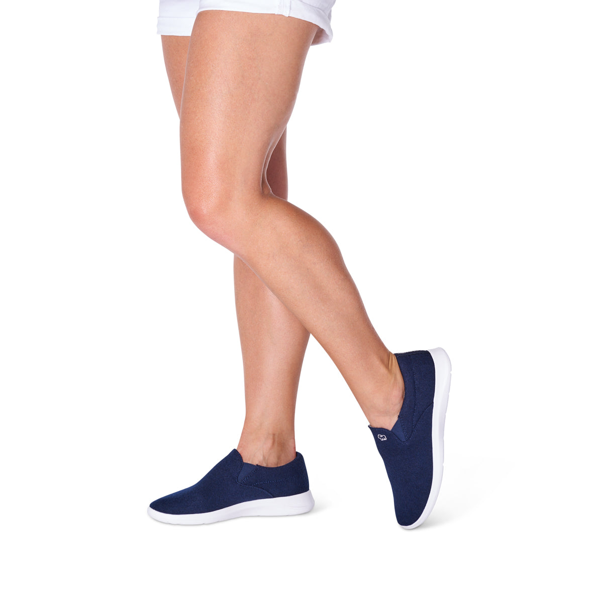 Women's Slip-Ons Navy/White