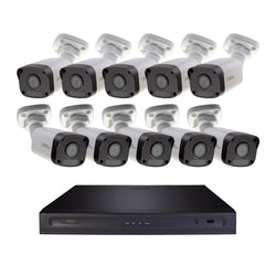Halifax 16 Channel 4K UHD IP NVR Security System with (10) Cavalier 5MP IP Bullet Cameras, 2 TB Hard Drive