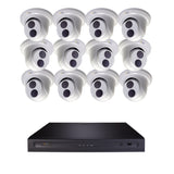 Halifax 16 Channel 4K UHD IP NVR Security System with (8/10/12/14/16) 4K 8MP IP Bullet/Dome Cameras and 2 TB / 4 TB Hard Drive