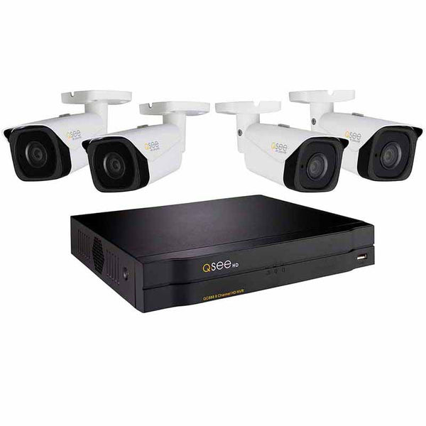 8 Channel 4K NVR System with (4//6/8) 4K IP Bullet Cameras and 2TB HDD