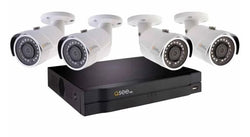 8 Channel 4K NVR System with 4 5MP Color Night Vision Bullet Cameras and 2TB HDD