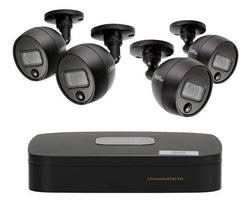 4 Channel 1080p DVR System with (2/4) 1080p PIR Bullet Cameras and 1TB HDD