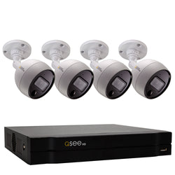 8 Channel 4K Multi-format DVR System with (4/6/8) 4K PIR Bullet Cameras and 2TB HDD