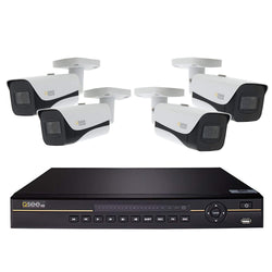 8 Channel 4K NVR System with (4/6/8) 4K Bullet Cameras and 4TB HDD