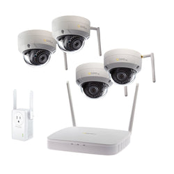 8 Channel Wi-Fi Security System With 1TB HDD and 4 Wi-Fi 1080p Dome Security Cameras