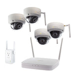 8 Channel Wi-Fi Security System With 1TB HDD and (2/4) Wi-Fi 1080p Dome Security Cameras