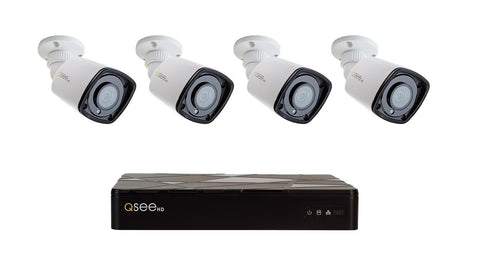 8 Channel 4K NVR System with 4 1080p Color Night Vision Bullet Cameras and 2TB HDD