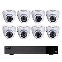 16 Channel 720p DVR System with 8 720p Dome Cameras and 2TB HDD (White or Black color)