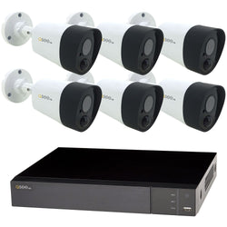 8 Channel 5MP Multi format DVR System with 6 5MP PIR Bullet Cameras and 2TB HDD