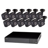 16 Channel 1080p Multi format DVR System with (8/12/16) 1080p PIR Bullet Cameras and 2TB HDD