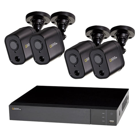 8 Channel 1080p Multi format DVR System with (4/8) 1080p PIR Bullet Cameras and 1TB HDD