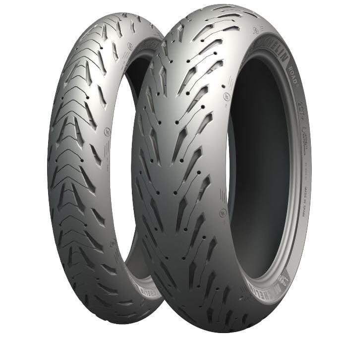 Michelin Road 5 Front Tire wet dry street stunt stoppie endo