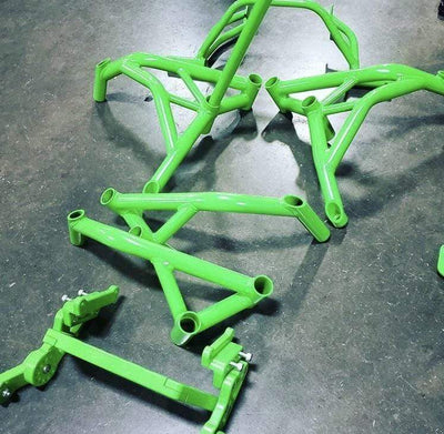 Kawasaki Green crash cage Impaktech zx6r 636 2013-2019 kawi green lime color stunt cage